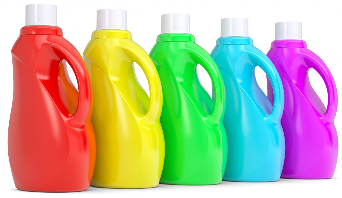 green cleaning household supplies