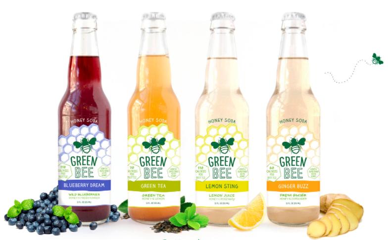 Green Bee Ginger Buzz Soda