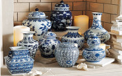 Blue & white ginger jars