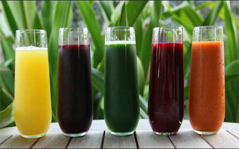 Organic cold-pressed juices