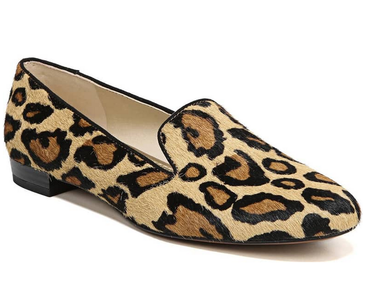 spotted leopard smoking loafers