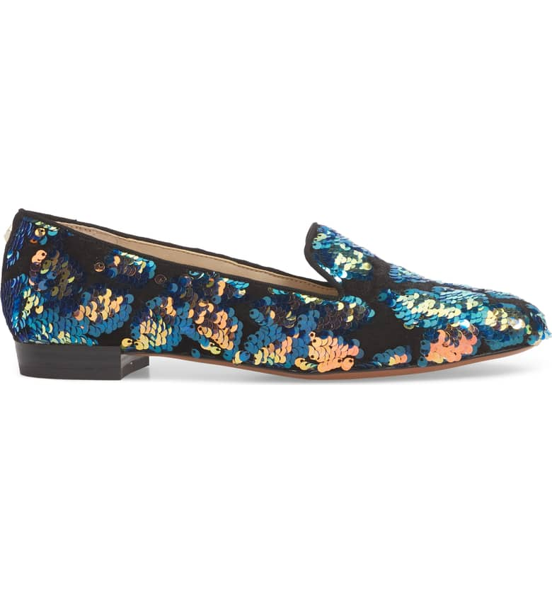 Sequin smoking loafers