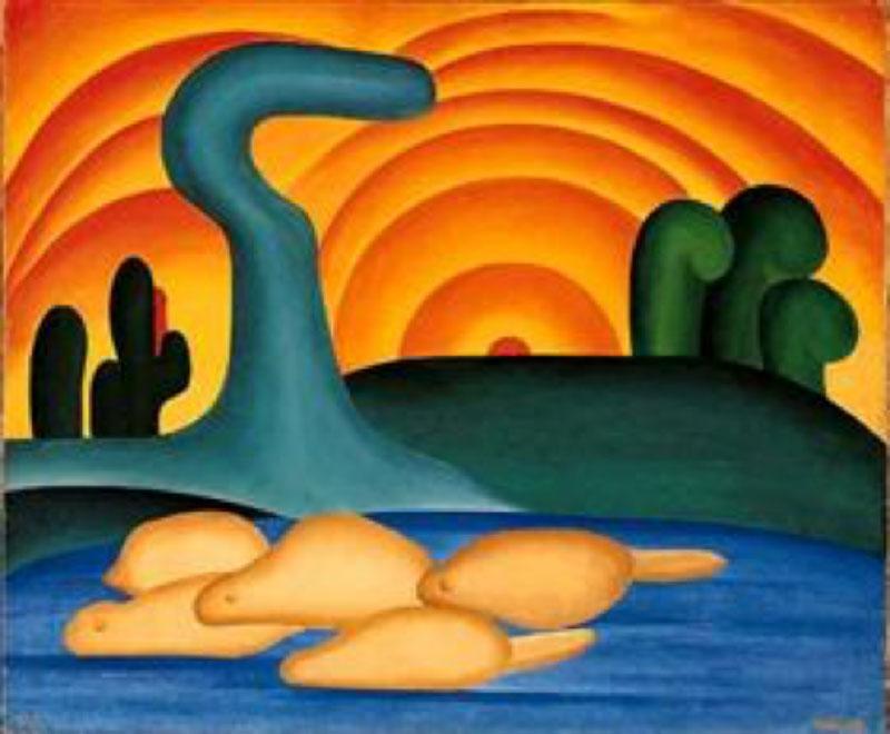 Setting Sun, 1929, by Tarsila do Amaral