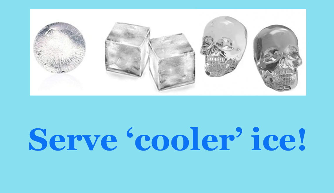 Unexpected Ice Cubes Can Dress Up Your Drinks
