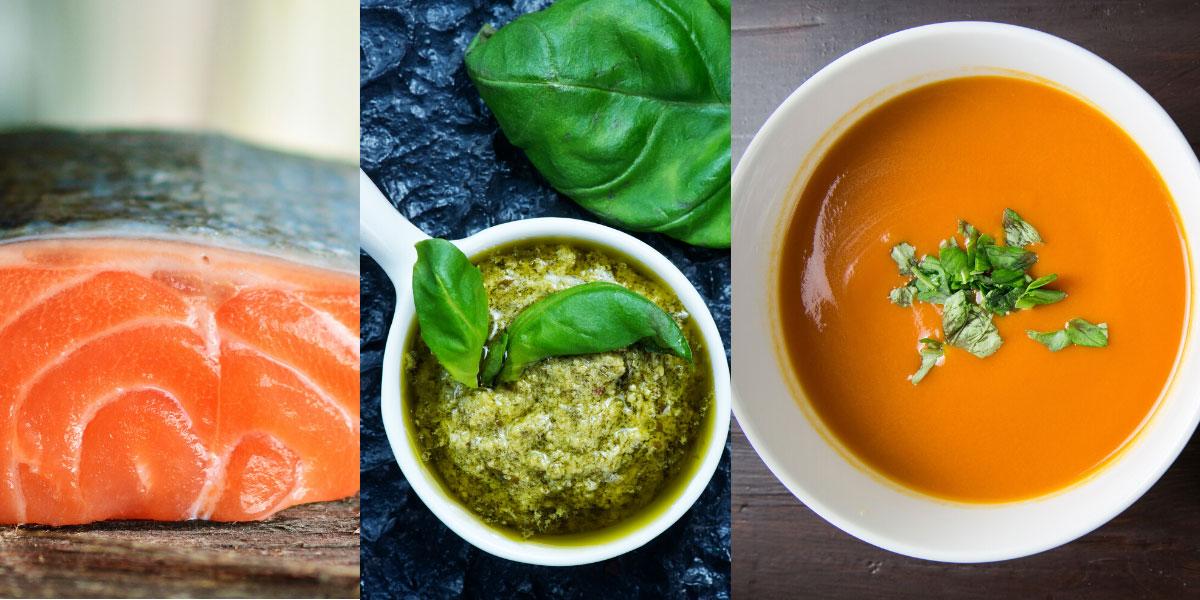 salmon orzo pesto soup