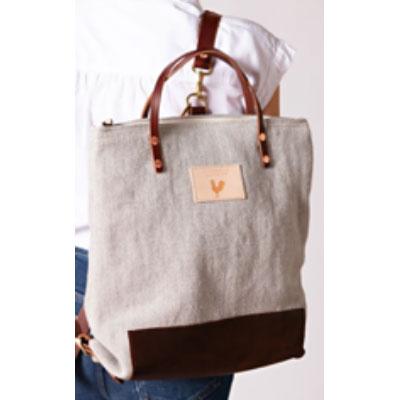 wax canvas handbag