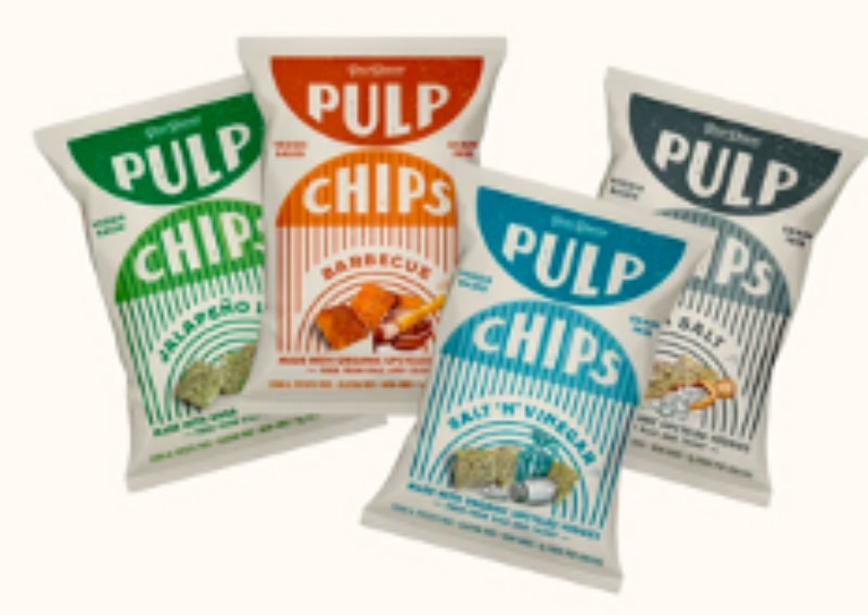 Pulp Chips made from vegetables