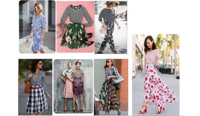 Mix and match patterened clothing